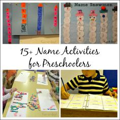 Name activities for preschoolers - Name Kits