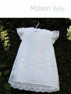 Vestido em renda Renascença Mariah - Maison Baby. Baby's dress