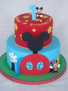 Mickey Mouse Clubhouse Cake by springlakecake