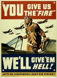 A 10 Keep Em Firing Poster You Give Us The Hog Wwii Posters Wwii Propaganda Posters Military Poster