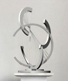 Enlarge Geometric Sculpture, Abstract Sculpture, Geometric Art, Sculpture Art, Concept Models Architecture, Architecture Model Making, Architecture Design, Industrial Design Sketch, Steel Art