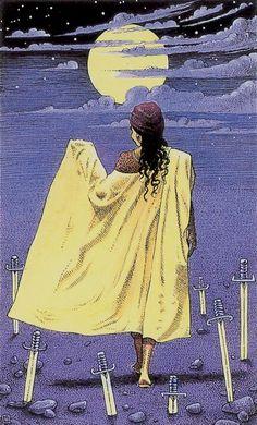 Seven of Swords - Cosmic Tarot by Norbert Losche
