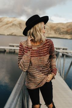Chime In Stitched Sweater | ROOLEE