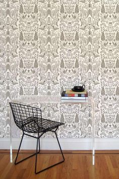 Design Sponge Black Book Wallpaper