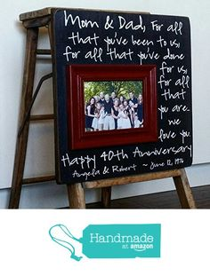 40th Anniversary Gifts, Parents 50th Anniversary Gift, For All That You Have Been To Us, Anniversary Frame, 16x16 THE SUGARED PLUMS from The Sugared Plums https://www.amazon.com/dp/B01HTSKA50/ref=hnd_sw_r_pi_dp_eP4UxbKJG62HX #handmadeatamazon