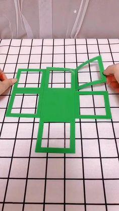 Diy Crafts For Home Decor, Diy Crafts Hacks, Diy Crafts For Gifts, Diy Arts And Crafts, Cool Paper Crafts, Cardboard Crafts, Fun Crafts, Cardboard Boxes, Origami Gifts