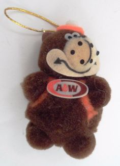 Vtg A&W Root Beer Rooty Bear Mascot Pom Pom Christmas Tree Ornament Decoration A&w Root Beer, Vintage Restaurant, Christmas Tree, Christmas Ornaments, Gingerbread Cookies, Restaurants, Nostalgia, Bear, Shapes