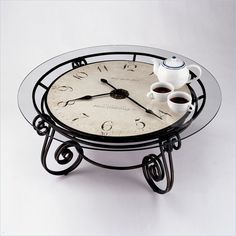 Merveilleux Round Metal Clock Coffee Table | Howard Miller Ravenna Round Coffee Table  Clock.love This