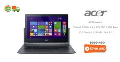 #Huge Online #sale #acer-aspire, #intel-core-i7 #1tb-ssd #8gbram #13.3-touch, 128shd-win-8.1 #black free #cash on #delivery service @ AED 5,749 in #Dubai UAE.