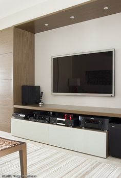 Best DIY Entertainment Center Design Ideas For Living Room Tv Stand Modern Design, Tv Stand Designs, Living Room Tv Unit, Living Room Furniture, Living Room Decor, Tv Wall Design, House Design, Muebles Living, Home Interior Design