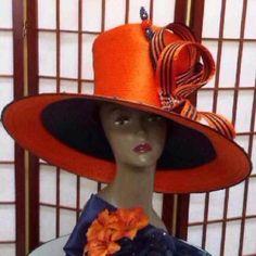 5419cafc3d2 Orange   navy Louise D.Patterson Couture by Joyce Richardson