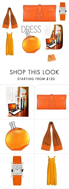 """""""Hermes Dress"""" by mallory-hiopia ❤ liked on Polyvore featuring Hermès and hermes"""