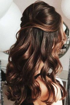 Bumped Half-Up Hairstyles ❤️ Half up half down prom hairstyles are really trendy this season. Check out our photo gallery of the most fabulous hairstyles to get inspired. ❤️ up hairstyles Try 42 Half Up Half Down Prom Hairstyles Half Up Half Down Hair Prom, Prom Hair Down, Wedding Hairstyles Half Up Half Down, Wedding Hair Down, Wedding Hair And Makeup, Down Hairstyles, Hairstyles Haircuts, Bridesmaids Hairstyles Down, Long Hair Half Updo