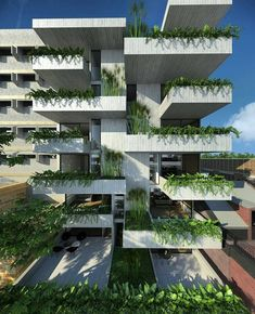 Best Modern Apartment Architecture Design 21 image is part of 80 Best Modern Apartment Architecture Design 2017 gallery, you can read and see another amazing image 80 Best Modern Apartment Architecture Design 2017 on website Architecture Design, Green Architecture, Facade Design, Sustainable Architecture, Residential Architecture, Sustainable Design, Amazing Architecture, Landscape Architecture, Landscape Design