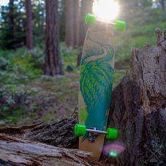 "Stella Prebuilt 42"" Kicktail Crane Green Longboard"