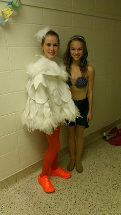 Homemade Scuttle and Ariel Costumes.!