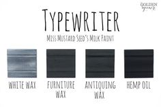 Typewriter Finishes #MMSMP #mmsmilkpaint