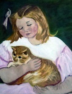 niña con gato Asun S