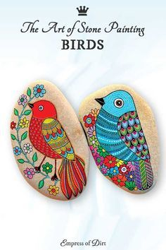 See How to Paint Gorgeous Stone Art with Artist Sehnaz Bac The Art of Stone Painting bird project by Sehnaz Bac Stone Art Painting, Pebble Painting, Pebble Art, Body Painting, Rock Painting Patterns, Rock Painting Designs, Paint Designs, Stone Crafts, Rock Crafts