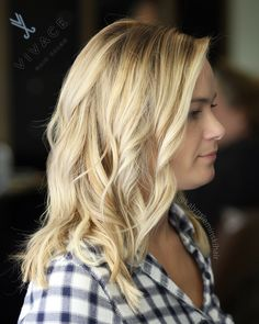 SUMMER BLONDE! Balayage highlight & shadow root blend by Kalyn Sieminski