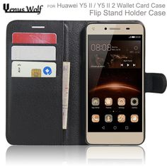 For Huawei Y5 II / Y5 II 2 Case Cover Wallet Style PU Leather Case Flip Cover Phone Bag with Stand Function and Card Holder #Affiliate