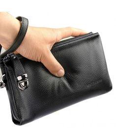 Men's Clutch Bag Handbags Genuine Leather Wallets Business Organizer Purse Rangren Men Clutch Bag, Man Purse, Leather Clutch, Leather Men, Leather Purses, Leather Wallets, Leather Bags, Purse Wallet, Leather Totes
