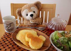 ミッキーパンケーキ作ってもらったの(≧∇≦)
