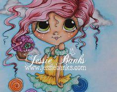 INSTANTÁNEA descargar Digital Digi sellos ojo grande Big Head Dolls nuevos dulces Besties Img632 mis Besties por Sherri Baldy