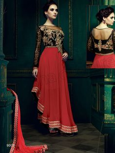 #Designer Suits#Black & Red#Indian Wear#Desi Fashion #Natasha Couture#Indian Ethnic Wear# Salwar Kameez#Indian Suit#Pakastani Suits#