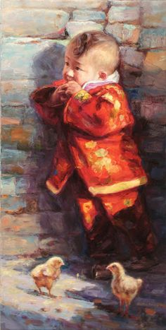 """Children Paintings By Chinese Painter """"Barry Yang"""""""