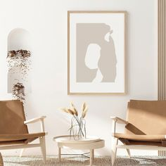 Shapes 2 by Menega Sabidussi. Organic, abstract shapes in white and a soft neutral, sand color. Monochrome, #minimalist artwork for a #modern, scandinavian style interior. #contemporary #aesthetic #shape Abstract Shapes, Wall Art Prints, Sand Color, Wall Art, Abstract Art, Art, Abstract, Color, Abstract Print
