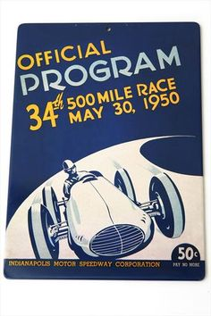 1950 Indy 500 - Poster