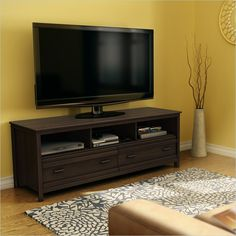 South Shore Exhibit Transitional Style TV Stand in Mocha - 4479677 - Lowest price online on all South Shore Exhibit Transitional Style TV Stand in Mocha - 4479677