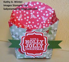 August 2014 Stamp Club's 3-D Project, Stampin' Up!, Fry Box die, Kathy A. Winter, ladystampalot.blogspot.com