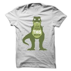 I Love You This Much T Rex T Shirts, Hoodies. Check price ==► https://www.sunfrog.com/Funny/I-Love-You-This-Much-T-Rex-T-Shirt.html?41382 $19
