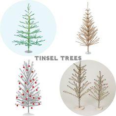 Vintage Style Tinsel Trees