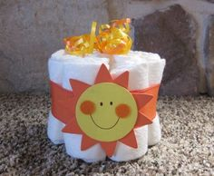 Sunshine mini diaper cake decoration or gift for  baby shower