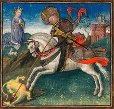 st george, le dragon et la princesse