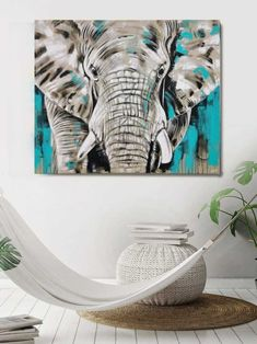 ELEFANT #25 - großes Leinwandbild modern | Atelier Stefanie Rogge