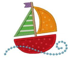 GG Designs Embroidery - Swirly Sail Boat Applique (Powered by CubeCart)