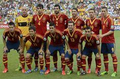 Juan Mata, Cesar Azpilicueta and Fernando Torres start for Tahiti vs Spain. Confederations cup. June 20, 2013.