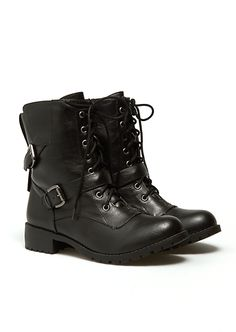 Buckled Combat Boots | Fashion Boots | rue21