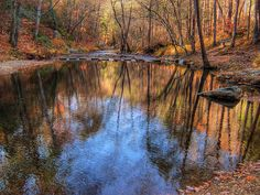 Autumn's Reflections. Otter Creek in the Blue Ridge Mountains of Virginia. Photo by DL Ennis. #fall
