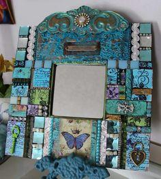 Mosaic mixed media mirror