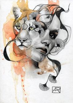 Mtn lion spirit animal by patricia ariel a r t spirited art, Kunst Inspo, Art Inspo, Art And Illustration, Illustrations, Fantasy Kunst, Fantasy Art, Lion Spirit Animal, Art Sketches, Art Drawings