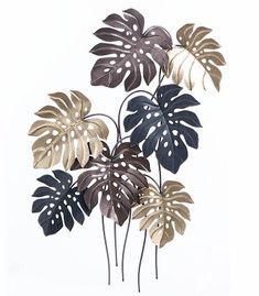 Leaves Wallpaper Iphone, Aqua Wallpaper, Metal Wall Decor, Metal Wall Art, Roman Clock, Gold Leaf Art, Leaf Texture, Metal Clock, Tree Wall Art