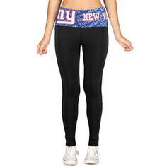 New York Giants Women's Cameo Knit Leggings - Black
