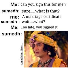 Image may contain: one or more people, hat and text Crazy Jokes, Very Funny Jokes, Crazy Funny Memes, Really Funny Memes, Funny Quotes, Radha Krishna Love Quotes, Radha Krishna Pictures, Radha Krishna Photo, Krishna Photos