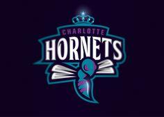 "Logo design concept for the NBA team : ""Charlotte Hornets"" Logo Branding, Branding Design, Logos, Charlotte Hornets Logo, Game Logo Design, Esports Logo, Weird Words, Mascot Design, Logo Inspiration"