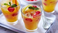 A simple Mixed fruit punch recipe for you to cook a great meal for family or friends. Buy the ingredients for our Mixed fruit punch recipe from Tesco today. Easy Juice Recipes, Punch Recipes, Super Healthy Recipes, Easy Healthy Dinners, Healthy Foods To Eat, Easy Dinner Recipes, Halal Recipes, Mixed Fruit Juice, Fruit Punch